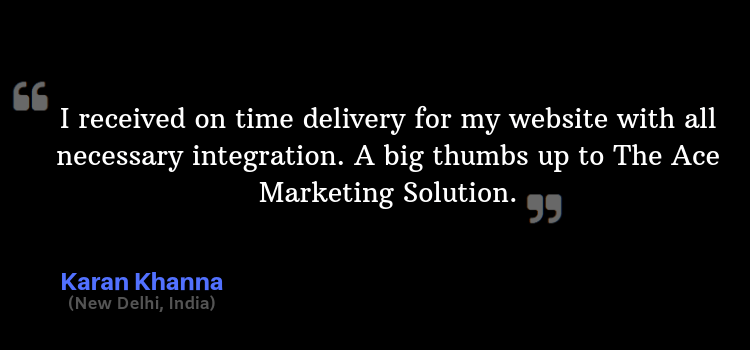 The Ace Marketing Solution Testimonals