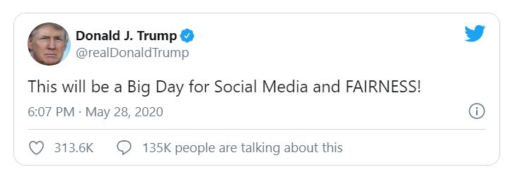 President Donald Trump warns on tweet