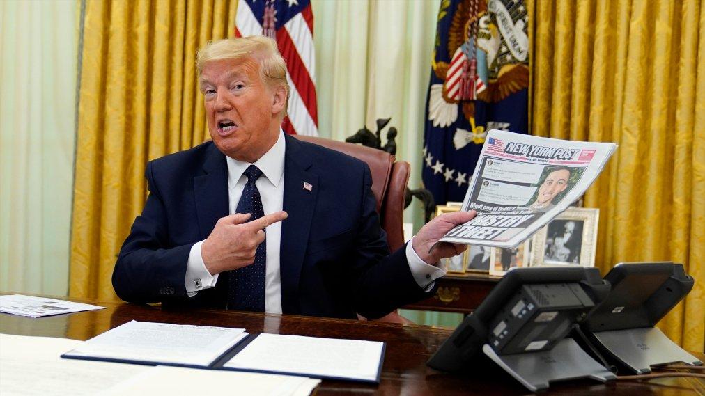 Trump signs an executive order taking direct aim at social media companies.
