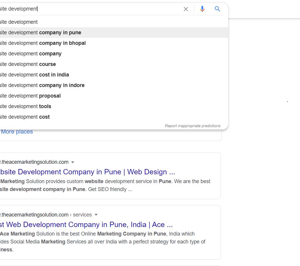 Google Search Box Suggestion: